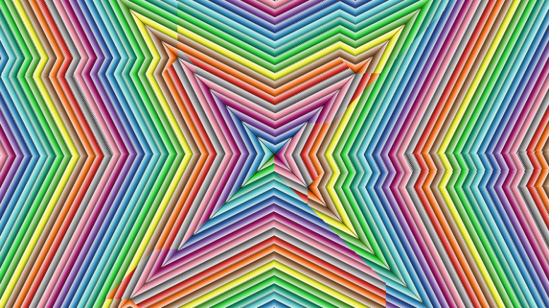 Procedural or algorithmic art (rainbow flake))